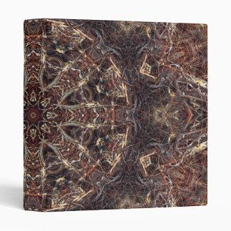 Binder, Abstract Kaleidoscope Brown Tan Original 3 Ring Binder