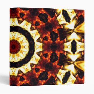 Binder, Abstract Kaleidoscope Fire Lava Coal Gear Binder