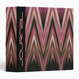 Binder Abstract Pink Zigzag Journal Template