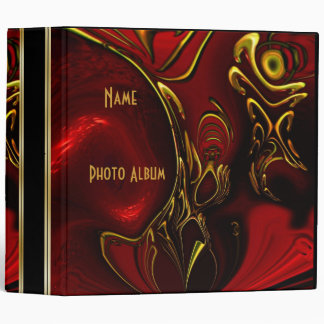 Binder Abstract Red Black Gold 5 Photo Album