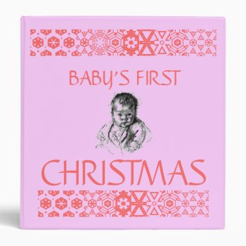 Binder Baby's First Christmas by creativeconceptss at Zazzle