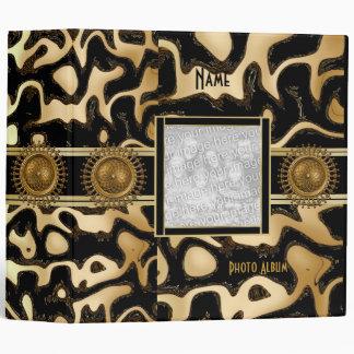 Binder Black Gold Stripe Africa 2 Add Photo Album Vinyl Binder