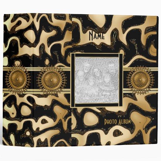 Binder Black Gold Stripe Africa 2 Add Photo Album