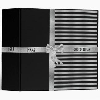 Binder Black Silver Stripe Photo Album