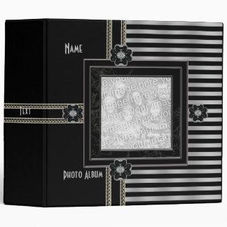 Binder Black Silver Stripe Photo Album Add Photo 2