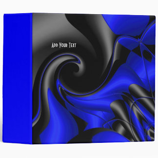 Binder Blue Curve Abstract Print