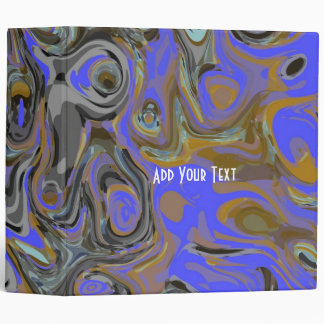Binder Blue Purple Abstract Print
