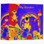 Binder Boys Animals 3 Ring Binders