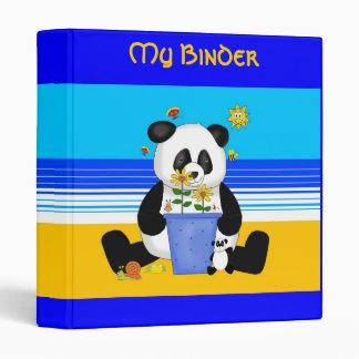Binder Boys Girls Panda At The Beach