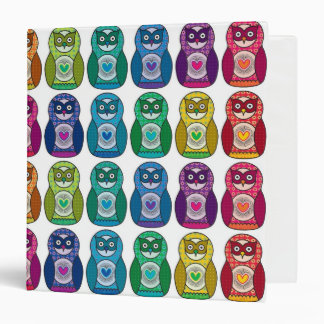 Binder - Cute Rainbow Matryoshka Owl