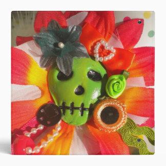 Binder day of the dead sugar skull