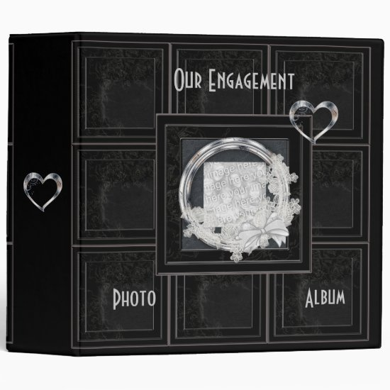 Binder Engagement Album Aged Black Panel Add Photo