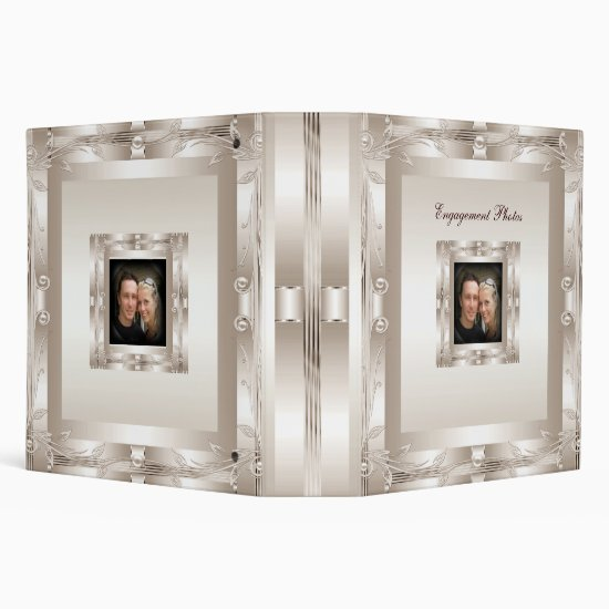 Binder Engagement Photo Album Cream Art Deco