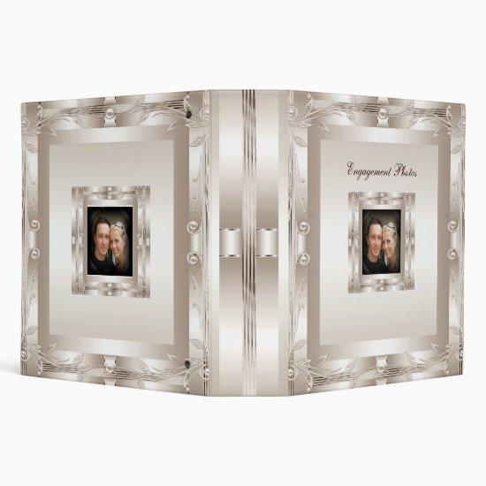 Binder Engagement Photo Album Cream Art Deco