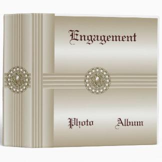 Binder Engagement Photo Album Elegant Pearl Gem 2