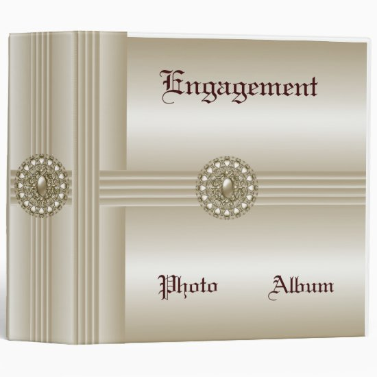 Binder Engagement Photo Album Elegant Pearl Gem 2