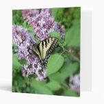 Binder - ET Swallowtail on Lilac 3 Ring Binders