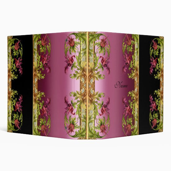 Binder Exotic Pink Floral Black Prints