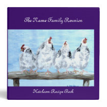 Binder, Family Reunion Recipe Book Binder