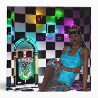 Binder Fantasy Art Juke Box Music Girl
