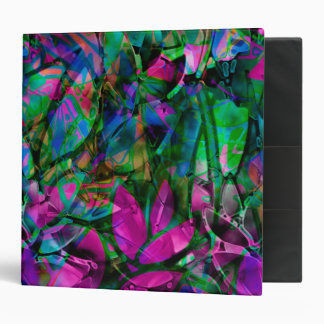 Binder Floral Abstract Stained Glass