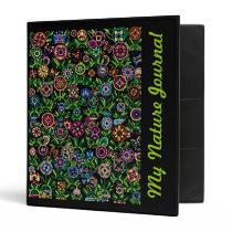 Binder Flowers Butterflies Journal Customizable