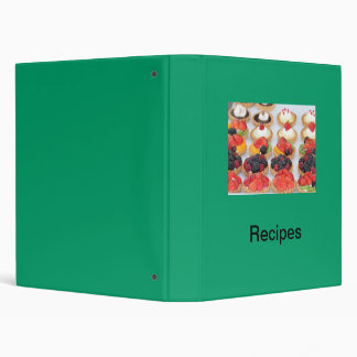 Binder, French pastries, green cover, Recipes Binder