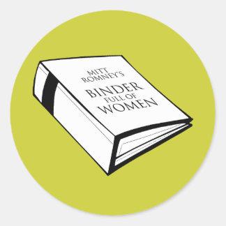 BINDER FULL OF WOMEN COSTUME CLASSIC ROUND STICKER
