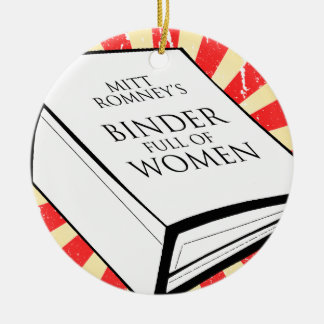 BINDER FULL OF WOMEN Double-Sided CERAMIC ROUND CHRISTMAS ORNAMENT