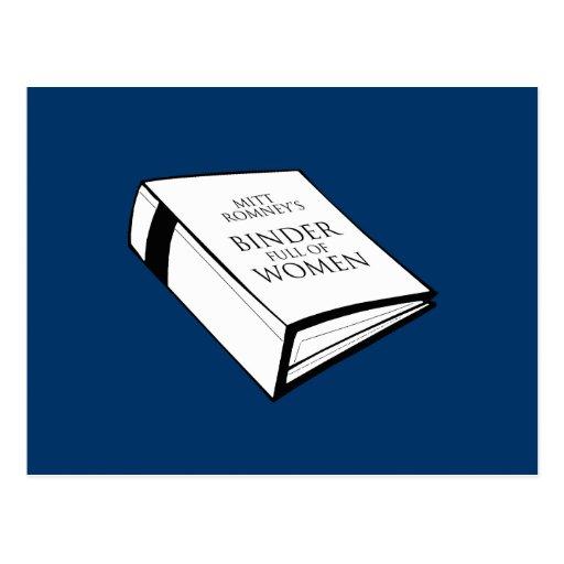 BINDER FULL OF WOMEN POST CARDS