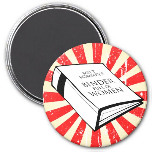 BINDER FULL OF WOMEN REFRIGERATOR MAGNETS
