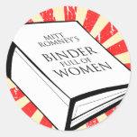 BINDER FULL OF WOMEN ROUND STICKERS