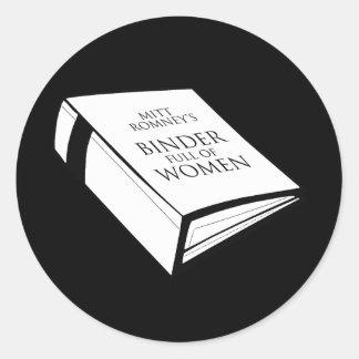 BINDER FULL OF WOMEN CLASSIC ROUND STICKER