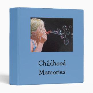 BINDER: GIRL BLOWING BUBBLES: MEMORIES 3 RING BINDER