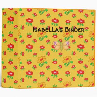 Binder Girls Butterfly Flowers large
