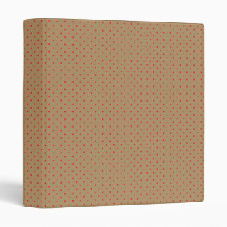 Binder Gold with Red Dots