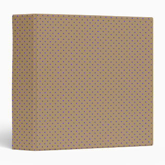 Binder Gold with Royal Blue Dots