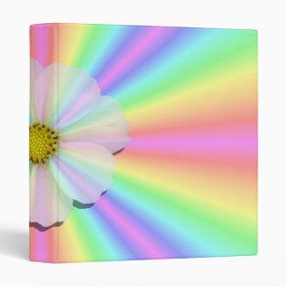 Binder - Groovy Radiant Rainbow With Flower Power
