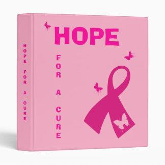 Binder: Hope For A Cure Binder. 3 Ring Binder