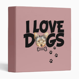 "binder ""I love dogs"""