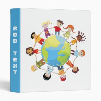 Binder: Kids Around The World Unite for Peace 3 Ring Binder