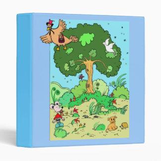 """binder """"landscape"""" with animals"""