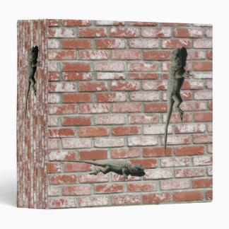 Binder - Lizards on brick wall