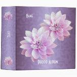 Binder Lotus Flowers Purple Photo Album Vinyl Binders
