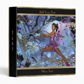Binder Magical Fantasy Art Purple Fairy