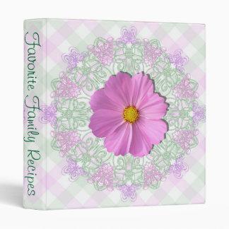 Binder - Medium Pink Cosmos on Lace & Lattice