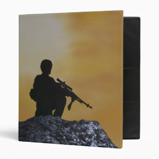 Binder Military Soldier Silhouette