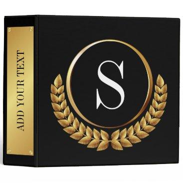 Professional Business Binder - Notebook Black - See Back