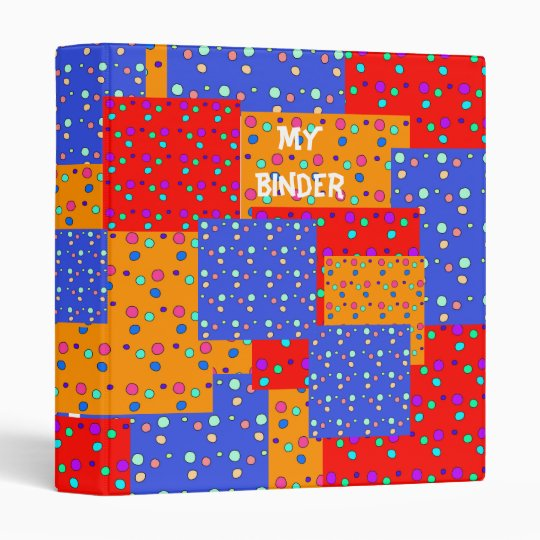 Binder Patched Red Blue Yellow