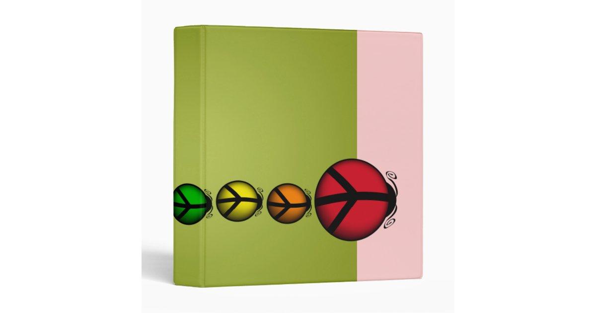 Binder Peace Ladybug 3in School Recipes Journal